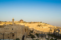 Skyline of the Old City at Temple Mount in Jerusalem, Israel. Stock Image