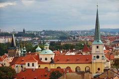 Skyline of old Prague, Europe Stock Image