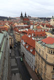 Skyline of old town in Prague Stock Photos