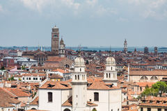 Skyline of Old Venice with Church Towers Stock Images