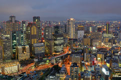 Skyline of Osaka Japan Stock Photos
