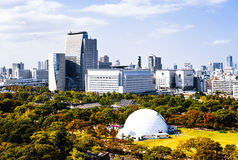 Skyline of Osaka Stock Photo
