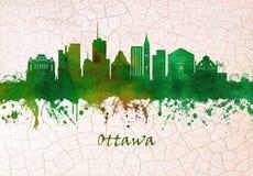 Ottawa Canada skyline royalty free illustration