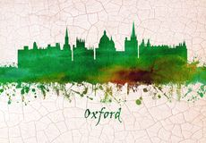 Oxford England skyline royalty free illustration