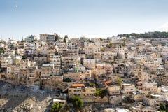 Skyline of the palestinian part of Jerusalem, Israel. Stock Photos