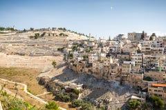 Skyline of the palestinian part of Jerusalem, Israel. Stock Photo
