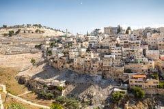 Skyline of the palestinian part of Jerusalem, Israel. Royalty Free Stock Photo