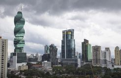 Panama City, skyline of highrises. Skyline of Panama City with bank buildings stock images