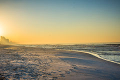 Skyline of Panama City Beach, Florida at Sunrise Royalty Free Stock Photo