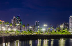 Skyline of Panama City at blue hour Royalty Free Stock Image