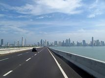 Skyline of Panama City, Smog and air pollution in the background, Panama stock photography