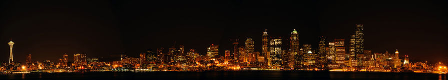 Skyline panorâmico da baixa da cidade de Seattle Imagens de Stock
