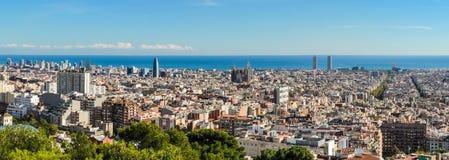 Skyline panorama of Barcelona, Spain Royalty Free Stock Image