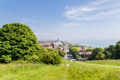 City view panorama of Eastbourne, United KIngdom. Skyline panorama of Eastbourne, Sussex, United Kingdom Royalty Free Stock Images