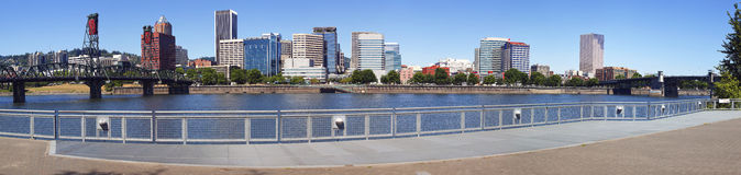 Skyline panorama, Portland Oregon. Stock Photo