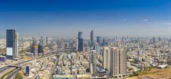 Skyline Panorama Of Tel Aviv, Ramat Gan And Givatayim. At Sunny Day Royalty Free Stock Images