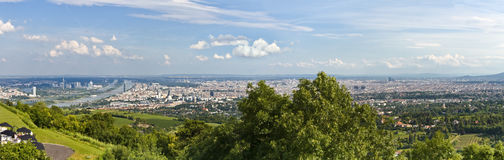 Skyline - Panorama vienna with blue danube Stock Photo
