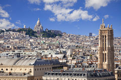Skyline of Paris Royalty Free Stock Images