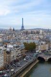 Skyline of Paris Royalty Free Stock Photos