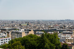 Skyline of Paris on bright Stock Photos