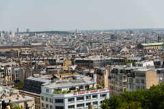 Skyline of Paris on bright Royalty Free Stock Photos