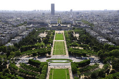 Skyline of Paris city from Eiffel tower Stock Photo
