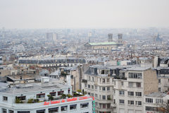 Skyline of Paris city. Royalty Free Stock Images