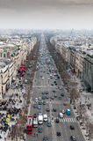 Skyline of Paris city in France Stock Images