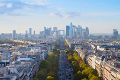Skyline of Paris, France Stock Photo