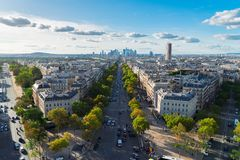 Skyline of Paris, France Royalty Free Stock Photo