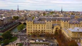 Skyline of Paris, France stock video