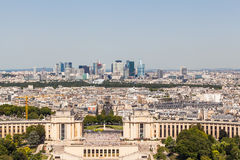 Skyline of Paris La Defense Stock Photography