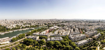 Skyline of Paris Royalty Free Stock Photo