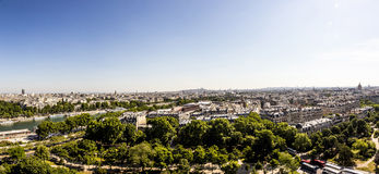 Skyline of Paris from la tour Eiffel Stock Image