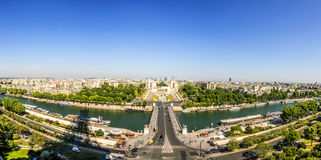Skyline of Paris from la tour Eiffel Stock Photos