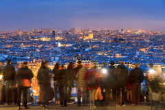 Skyline Paris from Montmartre Royalty Free Stock Photo