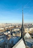 Skyline of Paris from Notre Dame Royalty Free Stock Image
