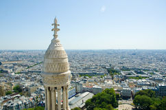 Skyline of Paris on summer day Royalty Free Stock Image