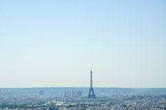 Skyline of Paris on summer day Royalty Free Stock Photos