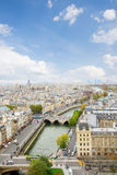 Skyline of Paris at sunny day Royalty Free Stock Images