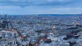 Skyline Paris timelapse stock video footage
