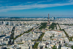Skyline of Paris from the top of the Montparnasse tower Royalty Free Stock Photos