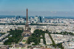 Skyline of Paris from the top of the Montparnasse tower Stock Images