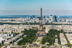 Skyline of Paris from the top of the Montparnasse tower Stock Photos