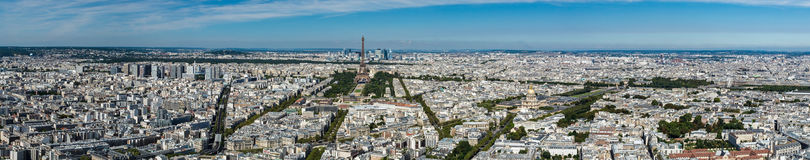 Skyline of Paris from the top of the Montparnasse tower Royalty Free Stock Images