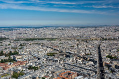 Skyline of Paris from the top of the Montparnasse tower Stock Image