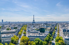 Skyline of Paris Royalty Free Stock Photos