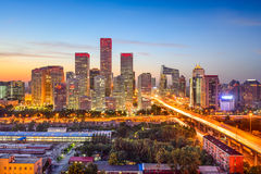 Skyline Pekings, China CBD Stockbilder