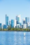 Skyline Perth Western Australia at Swan River Royalty Free Stock Image