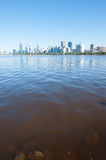 Skyline Perth Western Australia at Swan River Stock Images